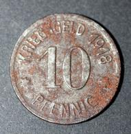 """WW1 Jeton De Nécessité Allemand """"Kriegsgeld 1918 - 10 Pfennig / Coblenz"""" Emergency Token WWI - Monetary/Of Necessity"""