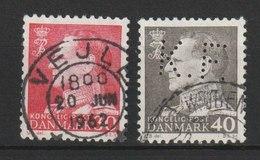 MiNr. 391, 393 Dänemark / 1961, 18. Mai/1962, 29. Nov. Freimarken: König Frederik IX. - Dänemark