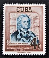 BICENTENAIRE DES POSTES CUBAINES 1956 - NEUF * - YT 434 - MI 482 - Cuba