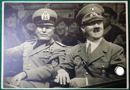 """Cartolina """"Hitler Und Mussolini"""" Monaco 1941 - Personnages"""