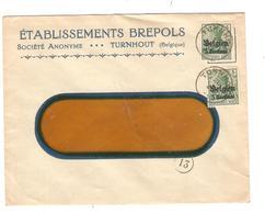 JS511/ Guerre-Oorlog 14-18 TP Oc 2(2) Entête ETS Brepols Jeu De Cartes C.Turnhout 1916 - WW I