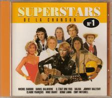 CD. SUPERSTARS N°1. Johnny HALLYDAY - Claude FRANCOIS - Eddy MITCHELL - Mike BRANT - DALIDA - CHRISTOPHE - 15 Titres - - Music & Instruments