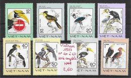 Oiseau Calao - Vietnam N°40 à 47 1977 ** - Perroquets & Tropicaux