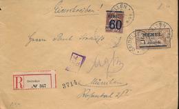 LITHUANIA MEMEL REGISTERED COVER FROM GAIBELLEN 1921 TO MUNCHEN - Memel (1920-1924)