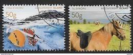 Islande 2017 N°1449/1450 Oblitérés  Tourisme Avec Chevaux Et Randonnée - Gebraucht