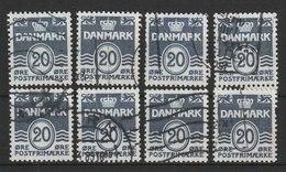 MiNr. 556 Dänemark / 1974, 24. Jan. Freimarke: Wellenlinien Ohne Herzchen. - Dänemark