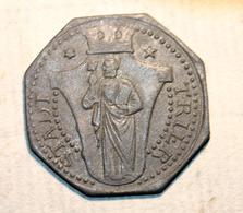 """WWI Monnaie Jeton De Necessité De La Ville De Trêves """"10 Stadt Trier"""" German Emergency Token WW1 - Monetary/Of Necessity"""