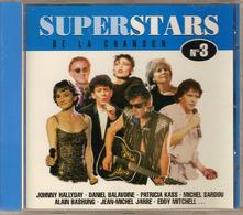 CD. SUPERSTARS N°3. Johnny HALLYDAY - Eddy MITCHELL - Michel SARDOU - Alain BASHUNG - Hervé CHRISTIANI - 15 Titres - - Autres - Musique Française