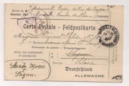 1918 CARTE DE MARSEILLE A PRISONNIER DE GUERRE ( 7 Eme REGIMENTS CHASSEURS °) SAGAN POLOGNE  / KRIEGSGEFANGENER  B608 - Postmark Collection (Covers)