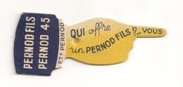 OBJET PUB PERNOD FILS / PERNOD 45 / QUI OFFRE UN PERNOD FILS ? VOUS / FONCTIONNEMENT  TOUPIE POUR SAVOIR QUI PAYE  B609 - Publicités