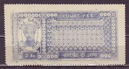 India-Raj Gainta State(Estate Of Kotah) 2 Annas Court Fee/Revenue Type 20 #DF111 - India