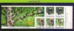 Mwe2684 FAUNA ROOFVOGELS UIL SPECHT *BOOKLET* BIRDS OF PREY OWL GREIFVÖGEL EULE AVES HIBOUX OISEAUX FINLAND 1993 PF/MNH - Eulenvögel