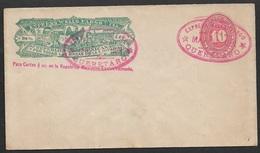 1891 MEXICO WELLS FARGO Postal Stationery 10C QUERETARO  EXPRESS - Mexico