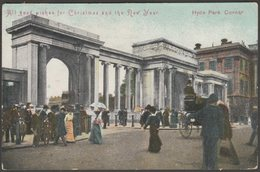 Hyde Park Corner, London, 1908 - Postcard - London