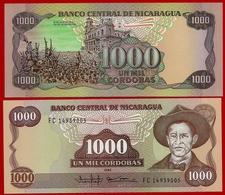 ** NICARAGUA - 1 000 Cordobas 1985 UNC + 200 000 Cordobas 1987 UNC  ** - Nicaragua