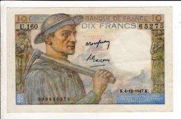 Billet De 10 Francs Mineur Du 4 12  1949 - 1871-1952 Circulated During XXth