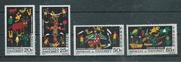 DAHOMEY  Yvert  N° 218 à 221 **  SERIE COMPLETE  Tapisseries D'Abomey - Benin – Dahomey (1960-...)