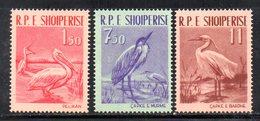 595/1500A - ALBANIA 1961 , Serie Yvert N. 552/554 (Michel 630/632) ***  MNH  UCCELLI - Albania