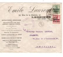 JS515/ Guerre-Oorlog 14-18 TP Oc 3-12 S/L.Entête E.Laurent Entreprises Générales Lessines Càp Lessines-Lessen 1917 V.BXL - Guerre 14-18