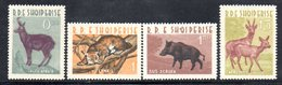 596/1500A - ALBANIA 1962 , Serie Yvert N. 597/600 (Michel 704/707) ***  MNH - Albania