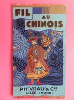 Calendrier 1930 - Fil Au Chinois - PH. Vrau & Cie - Lille - Complet - Publicités Fil Pelotes Et Fil Bobines - Calendars