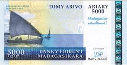 Madagascar - Pick 94 - 5000 Ariary 2008 - Unc - Commemorative - Madagascar