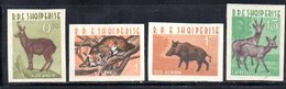 597/1500A - ALBANIA 1962 , Serie Yvert N. 597/600 (Michel 704/707) ***  MNH NON DENTELLATA - Albania