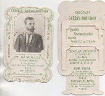 Chromo à Système Chocolat Guérin-Boutron Artistes Peintres : Mr BROUILLET Pierre André - Guérin-Boutron