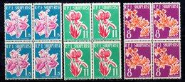 599/1500A - ALBANIA 1961 , Serie Yvert N. 555/557 (Michel 633/635) ***  MNH QUARTINE - Albania