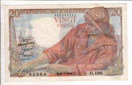Billet De 20 Francs Pecheur Du 10 3 1949 - 1871-1952 Anciens Francs Circulés Au XXème
