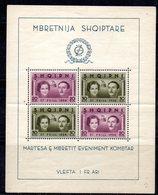 600/1500A - ALBANIA 1961 , BF Yvert N. 2 (Michel 2) ***  MNH Ripiegato E Gomma Scura - Albania