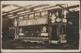 Illuminated Car, Sheffield, Yorkshire, 1911 - Furniss RP Postcard - Sheffield