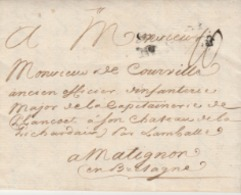 Colonie Par Nantes (mal Frappé) 1766. De La Cayes, Fond Isles à Vache St Domingue - Postmark Collection (Covers)