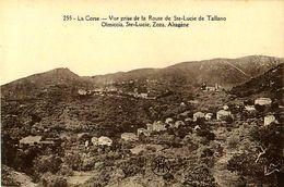 Cpa CORSE - Vue Prise De La Route De Ste Lucie De Tallano, Olmiccia, Ste Lucie, Zoza, Altagène - Autres Communes