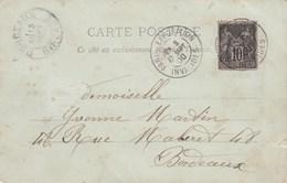 Cachet PARIS EXPOSITION INVALIDES 1900 Sur Carte Postale Expo Pour Bordeaux - Storia Postale