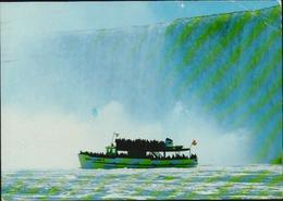AK Niagara Fälle, Maid Of The Mist Boat Tour, Gelaufen 1986 USA Nach Düsseldorf, 2 Scans, 14 X 10 Cm - Cataratas Del Niágara