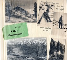 Patscherkofel 4 Winterfotos + AK + Beleg über ÖS 10,- Schneeräumgebühr Vom Urlaub 1959 Innsbruck - Sport