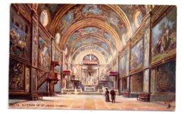 Malta - Interior Of St Johns Church-voir état - Malta