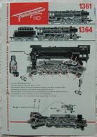 Fleischmann H0 Bedienungsanweisung 1966 Lokomotive 1361 1364 Mehrsprachig - Locomotives