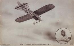 29 AB CPA Aubrun Sur Monoplan  Blériot - Aviateurs