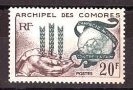 Comores - 1963 - N° 26 - Neuf ** - Lutte Contre La Faim Dans Le Monde - Unused Stamps