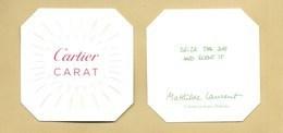 Carte Parfumée Perfume Card CARAT * CARTIER * R/V - Perfume Cards