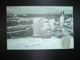 CP MAGNESIE DU MEANDRE TP BLANC 5c OBL.19 DEC 02 SMYRNE TURQUIE D'ASIE - 1900-29 Blanc