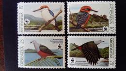 Micronésie Micronesia 1989 Animal Oiseaux Birds WWF Yvert 133-136 ** MNH - Micronesia