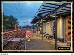 33  BLANQUEFORT    ...la Gare Interieure.. Quais A La Tombee De La Nuit - Blanquefort
