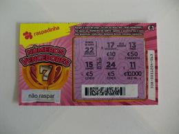 Loterie/ Lottery/ Loteria/ Lotaria Instant Instantânia Raspadinha Jogo Nº 338 - Números Vencedores Portugal - Lottery Tickets