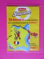 Magnet - Savane Brossard - Carte De L'Europe - France - Singe Sur Vélo - NEUF - Animals & Fauna