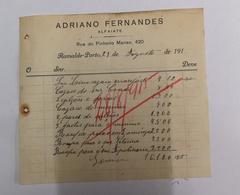 ADRIANO FERNADES ALFAIATE RUA DO PINHEIRO MANSO 420 PORTO 1915 - Portugal