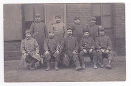 Carte Photo Groupe De Militaires VOIR ZOOM Clairon Au Centre N°295 ? Sur Col Régiment Infanterie ? - Régiments