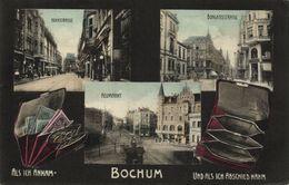 BOCHUM, Hochstrasse, Bongardstrasse, Neumarkt (1908) AK - Bochum